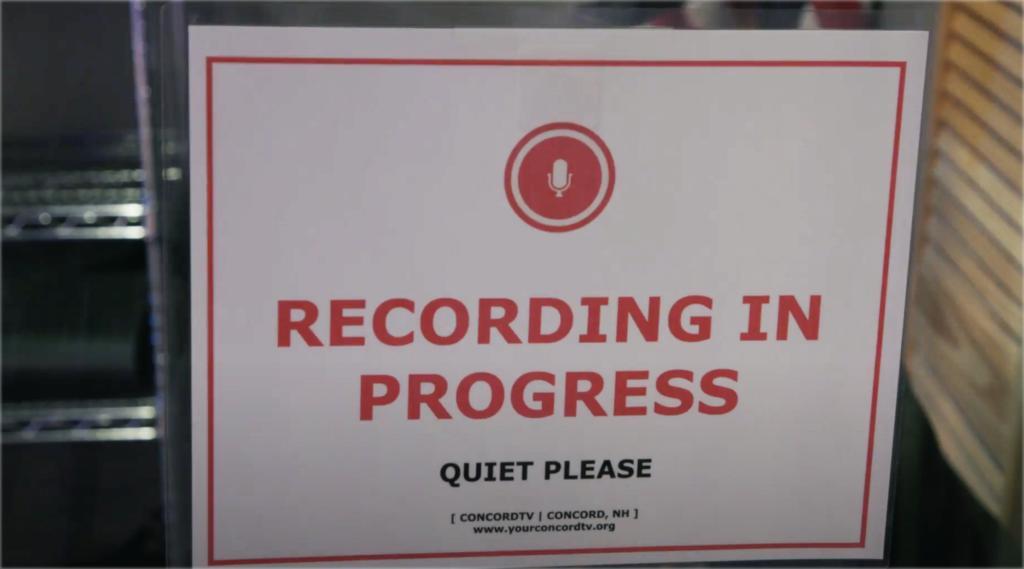 Studio Recording in progress